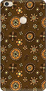 The Racoon Grip printed designer hard back mobile phone case cover for Xiaomi Mi Max. (kid doodle)