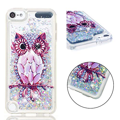 Wubaouk Clear Glitter Hülle for iPod Touch 7 3D Relief Prints Soft TPU Gel Cover Ultra Thin Hülle Shockproof Protective Women Phone Hülles iPod Touch 6/5 - 3d-cases Den 5 Für Ipod Bling