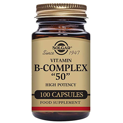 "Solgar Formula Vitamin B-Complex ""50"" Vegetable Capsules - Pack of 100 Test"