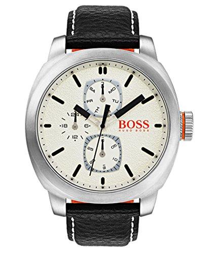 Hugo Boss Orange Reloj Multiesfera para Hombre de Cuarzo con Correa en Cuero 1550026