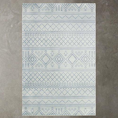 Alfombra salón, mesa de café, los países nórdicos mat dormitorio moderno minimalista, patrón geométrico rectangular, Manta de cabecera sofá,80cm x 126cm mantilla de cabecera,161108A