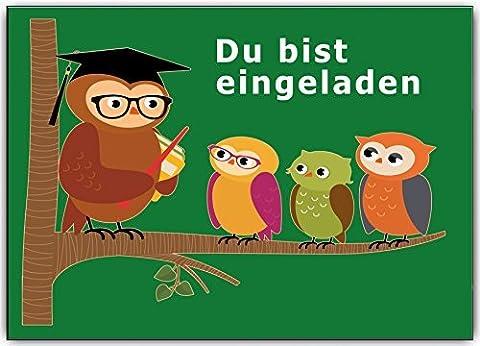 Einladungskarten zur Einschulung Schulanfang Schule Einladung Karten i-Dötzchen 10 Stück