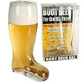 Grande stivale da birra in vetro, XXL, pinta di sidro o di altre bevande, regalo divertente, 800 ml