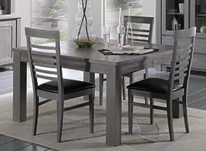 """Table de repas carrée """"Vienne"""" 130cm Meuble House"""