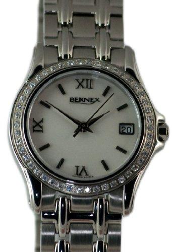 Bernex - Reloj de pulsera mujer, acero inoxidable, color plateado