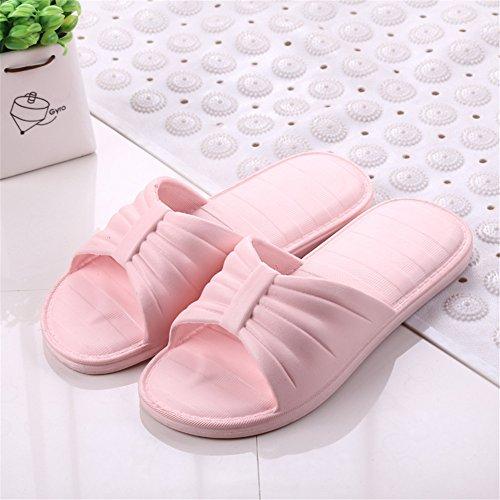 Auspicious beginning Sandales confortables Pantoufles de douche antidérapantes pour hommes et femmes Rose