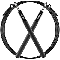 JEFlex Cuerda para Saltar de Calidad Premium, Longitud Ajustable y Rodamientos Ligeros, 3m
