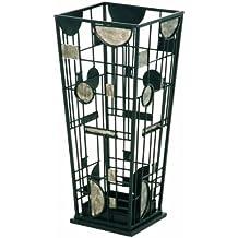 Haku Möbel 42793 - Paragüero de metal, color negro y plata