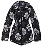 SS7 Damen Regen Mac Duschfest Regenjacke Jacke Schwarze Sonnenblume