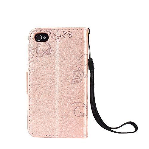 ZeWoo Folio Ledertasche - R158 / Ameisen aus (grau) - für Apple iPhone 4 4G 4S (3.5 Zoll) PU Leder Tasche Brieftasche Case Cover R160 Plum Blume