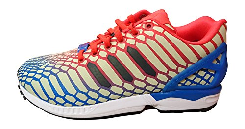 adidas  Adidas Zx Flux, Herren Sneaker weiß green white gold BB5477 36.5 EU Red/Black/White