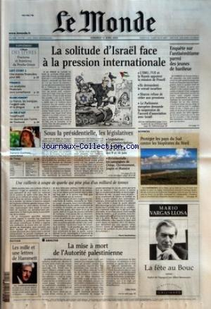 MONDE (LE) [No 17795] du 12/04/2002 - LOFT STORY 2 - UNE MANNE FINANCIERE POUR M6 - FINANCE - LES ANALYSTES FINANCIERS SOUS SURVEILLANCE - BLANCHIMENT - LA FRANCE, LES BANQUES, L'ARGENT SALE ET LA DROGUE - LA FIN D'AZF - TOTALFINAELF NE ROUVRIRA PAS L'USINE DE TOULOUSE - PORTRAIT - XANANA GUSMAO, CONSCIENCE DE TIMOR - LA SOLITUDE D'ISRAEL FACE A LA PRESSION INTERNATIONALE - ENQUETE SUR L'ANTISEMITISME PARMI DES JEUNES DE BANLIEUE - SOUS LA PRESIDENTIELLE, LES LEGISLATIVES - UNE CUILLE par Collectif