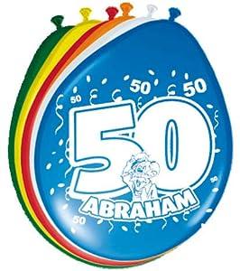 Folat 08251 - Globos Abraham (50 años, 8 piezas), multicolor