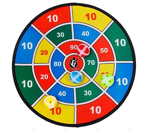 14,5 zoll Sicherheit Tuch Stoff Dartscheibe Ziel Schrank Set Ball Spiel Werfen Sport Hobby Kinder Spielzeug (8 Bälle) Ball Werfen Spielzeug