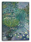 Printed Paintings Leinwand (70x100cm): Blanche Hoschedé Monet - Steg am Seerosenteich (Giverny)