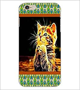 PrintDhaba Digital Kitty D-6045 Back Case Cover for APPLE IPHONE 6 (Multi-Coloured)