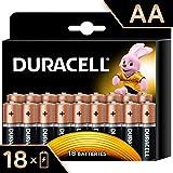 Duracell Plus AA, Batterie Stilo Alcaline, Confezione da 18 ad Apertura Semplificata, 1.5 volt LR06 MX1500 (il Design della Confezione Potrebbe Variare)