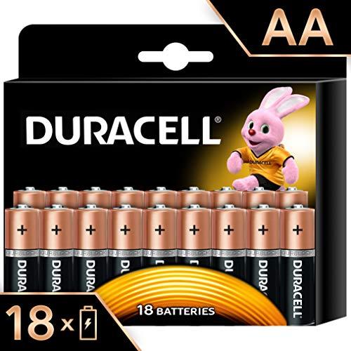 Duracell Batterie Alcaline Duracell Plus Power AA, Confezione da 18, il Design della Confezione Potrebbe Cambiare