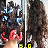 Baal 10 Pieces Self-Holding Hair Curling Flexi Rods Magic Air Hair Roller Curler Bendy Magic Styling Hair Sticks Hair Pin