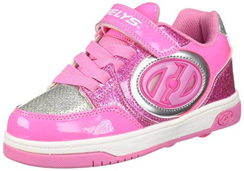 Heelys Unisex-Kinder X2 Fitnessschuhe, Mehrfarbig (Neon Light Pink/Silver 000), 35 EU