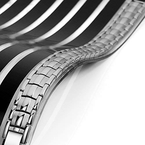 Urban Jewelry Herren-Armreif Titan Link Armband 22cm (Silber Ton)