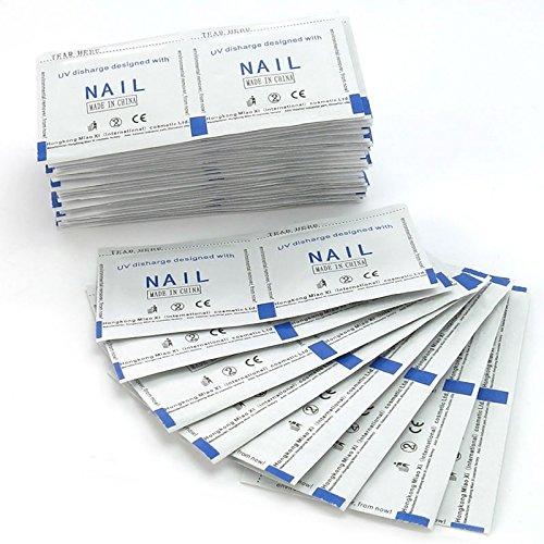 Elite99 50/100/150/200pcs Gel Polish Remover Wraps Pads Foil Nail Art Cleaner Manicure w/ Acetone (100pcs)