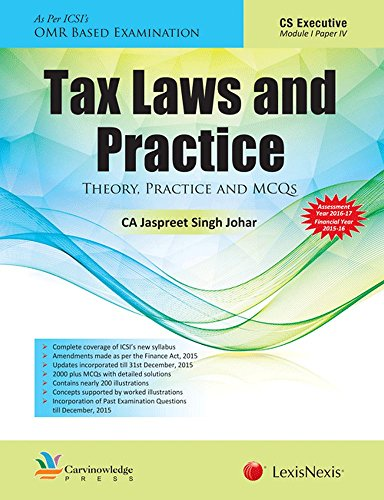 Tax Laws And Practice – Theory, Practice And Mcqs