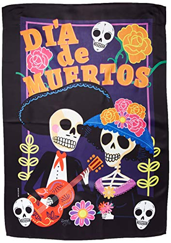 (Breeze Decor h112077Dia de Muertos Paar Vertikal House Flagge, 71,1x 101,6cm Multicolor)