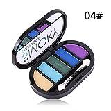 gaddrt 5 Farben Lidschatten Texturierte Palette konfrontiert Matt Perle Make-up Lidschatten (D)