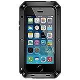 Lunatik Taktik Extreme Polymer-Schutzhülle für iPhone5 mit Gorilla-Glass, Schwarz/Schwarz/Rot