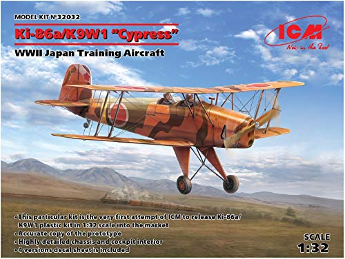 ICM 32032 Ki-86a/K9W1 Cypress,WWII Japan Trainin Aircraft - Maqueta de avión, Color Gris