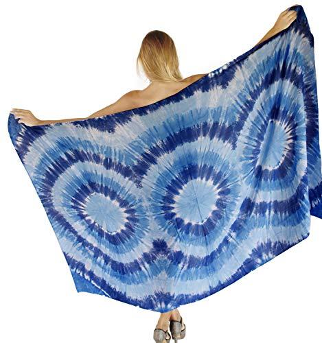 LA LEELA Bademode Badeanzug einpacken Badebekleidung verschleiern Frauen Badeanzug Zeitkleidung Sarong Pool Verschleiß Wrap blau -