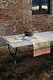 Bassetti Fong V8N Tischdecke, Baumwolle, Mehrfarbig (Beige), 140 x 170 cm