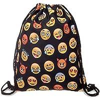 bagerly gimnasio saco bolsa cordón mochila escuela mochila de viaje Escuela Sackpack - 2016120501, negro 2