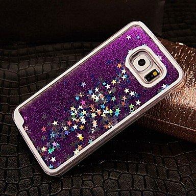 CASE FOR SAMSUNG Handy schützen, Sterne-Stil Fall für Samsung-Galaxie s6 (Verschiedene Farben) für Samsung (Farbe : Gelb, Kompatible Modellen : Galaxy S6)