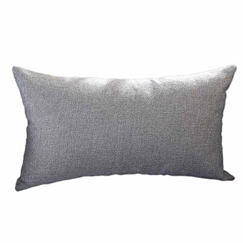 Federa solido ronamick 30cmx50cm rettangolare copricuscini decorative per di in letto divano sedie cuscino divano,morbido elastico casi cuscino (grigio, 30cmx50cm)