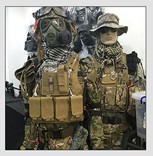 Militare caccia in organza,–esterno in nylon resistente multiuso tattico Utility gadget Gear appeso borse vita, Tan Black