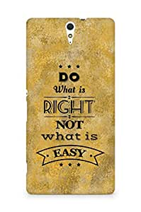 Amez Do what is Right Not what is Easy Back Cover For Sony Xperia C5