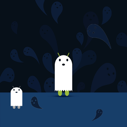 Live Wallpaper - DroidOWeen - Falling Droid Ghosts (Live Wallpaper Droid Halloween)