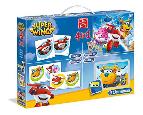 Clementoni-52236-Super-Wings-Edukit-4-In-1 Clementoni 52236 Edukit 4 in 1 Super Wings Spiel, 6 -