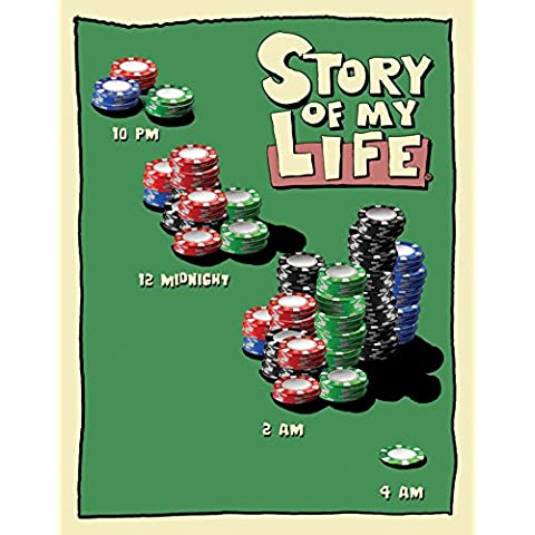 Poster di latta Tin Signs Story of My Life Poker Night