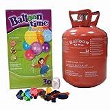 Unbekannt Ballon Helium für Luftballons, Time Gasflasche mit 30Luftballons einschließlich.