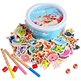 60Pcs Set Magnetic Fishing Toy Game Kids 3 Rod 3D Fish Baby Educational Toys Outdoor Fun Kids Toy  mm