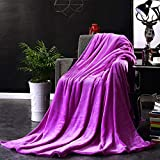 Morehappy7 Kleine Decke, superweiche Fleece-Überwurf, sehr gemütlich, leicht, Mikrofaser-Decke, Couch/Sofa/Bettwäsche/Reise/Camping-Decke, deep Purple, 180 * 220cm