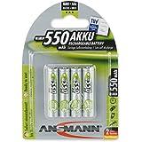 Ansmann 5030772 - Pack de 4 pilas recargables (AAA, 550 mAh, NiMH)
