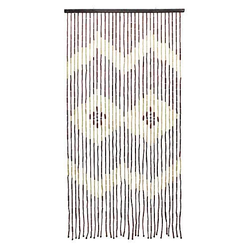 JVL Provence zum Aufhängen Holz Perlen Tür Diamanten Vorhang Bildschirm, Mehrfarbig, 90x 180cm -