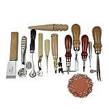 Hrph 12 Teilig Leder Nähen Set Handstitching Leathercraft Werkzeug DIY Locher-Loch-Zusatz