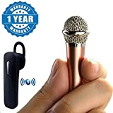 #10: Captcha® Portable Wired 3.5mm Mini Handheld Microphone Stereo Mic & K1 Super-long Standby Bluetooth Earbud Wireless Headset Earphone Compatible with Xiaomi, Lenovo, Apple, Samsung, Sony, Oppo, Gionee, Vivo Smartphones (One Year Warranty)