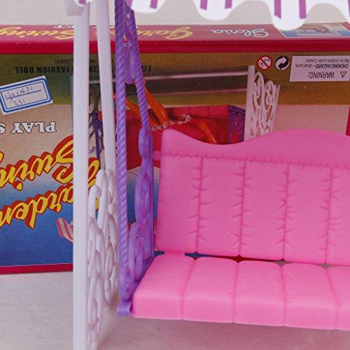 Gioco Altalena Da Giardino In Plastica Impostato Per La Bambola Barbie