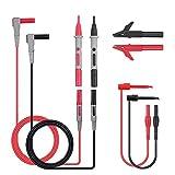 8-teiliges Set, Multimeter-Testkabel-Set, professionell, für Elektro-Messgerät, Test-Sonden-Set mit Test-Verlängerung, Krokodilklemmen